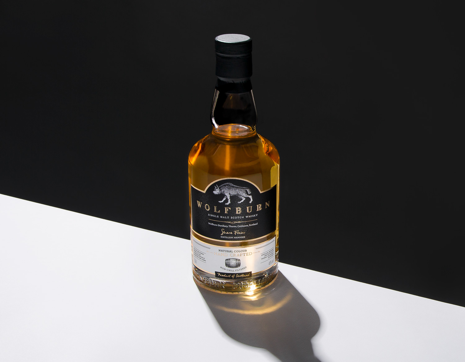Wolfburn Whisky Progress Packaging Bottle Label