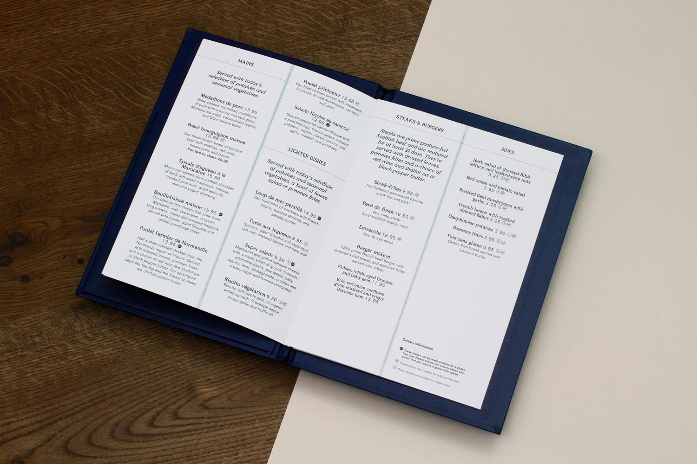Blacksheep menu Progress packaging