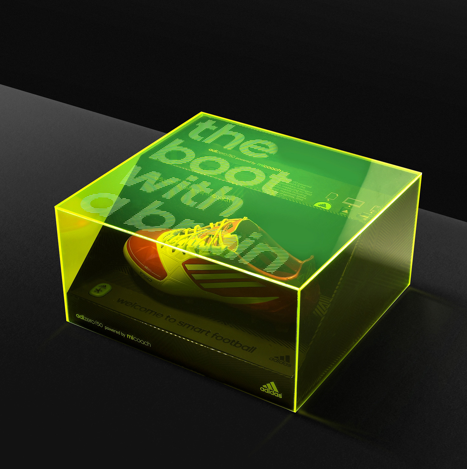 Progress Packaging Adidas Retail Fashion Boxes Acrylic LaserEtched Promotion