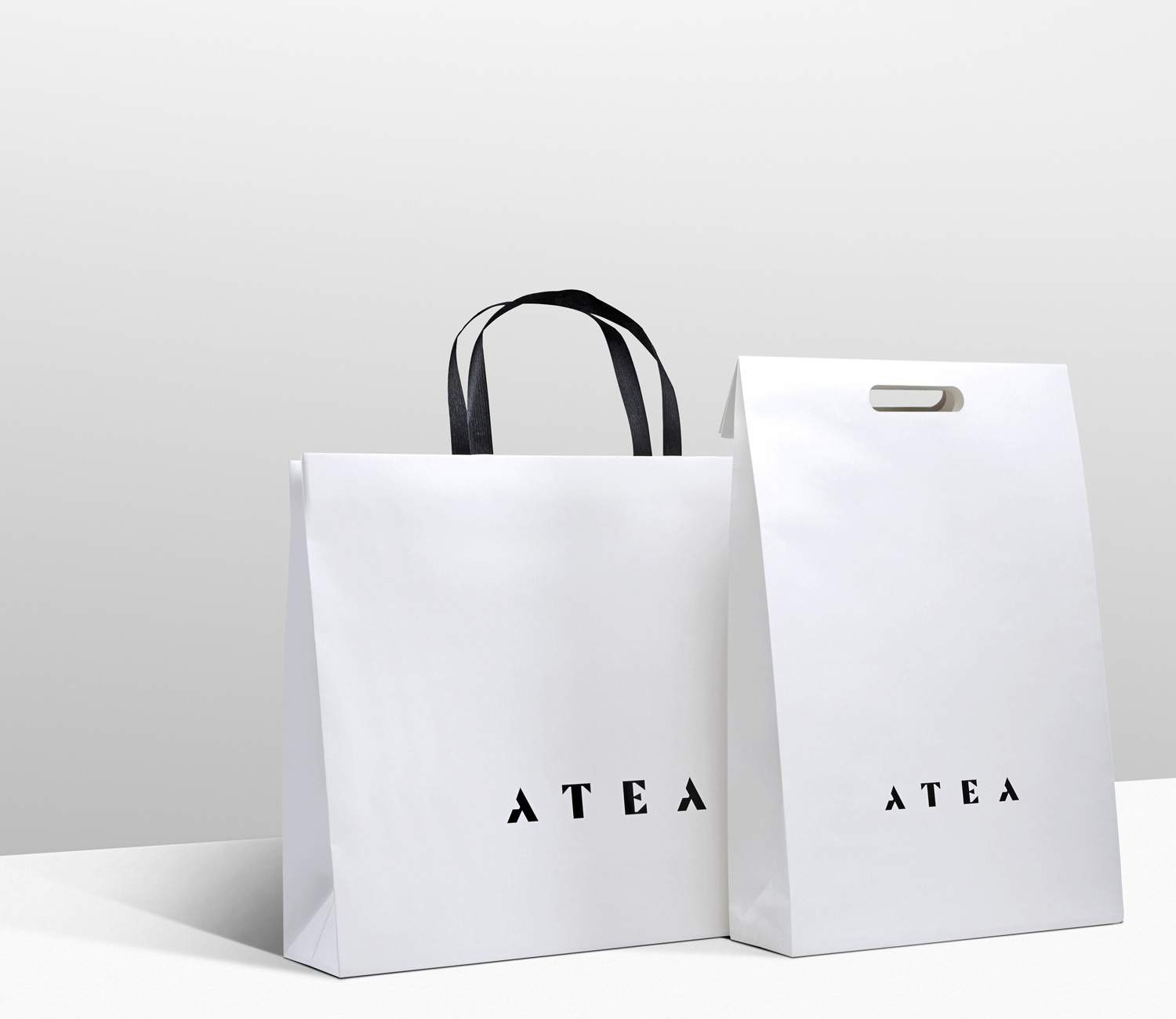 Progress Packaging Atea Carrier Bags Luxury Fashion Paper Folding Handles Die Cut Range