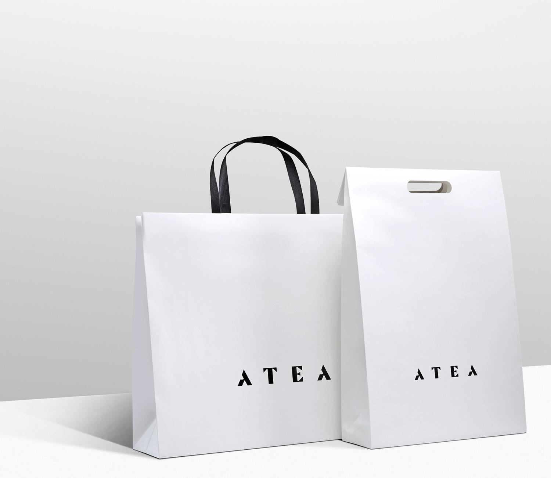 Progress Packaging Atea Carrier Bags Luxury Fashion Paper Folding Handles Die Cut Range