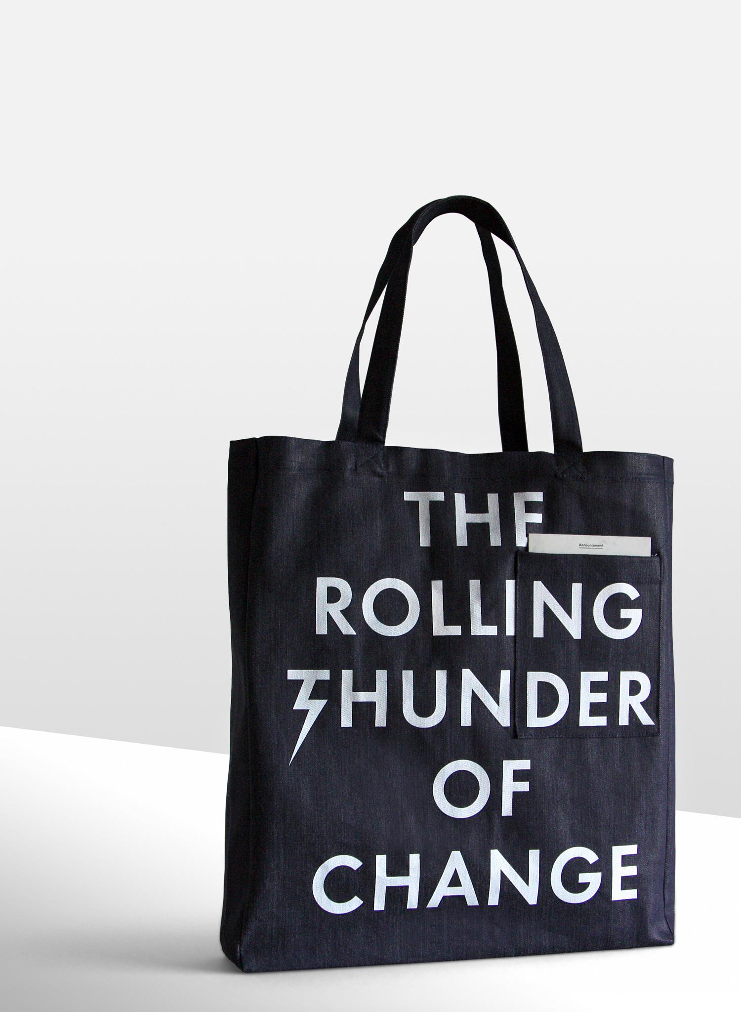 Progress Packaging Commision Tote Bag Fashion Denim Textiles Screen Print