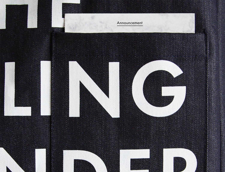Progress Packaging Commision Tote Bag Fashion Denim Textiles Screen Printing White