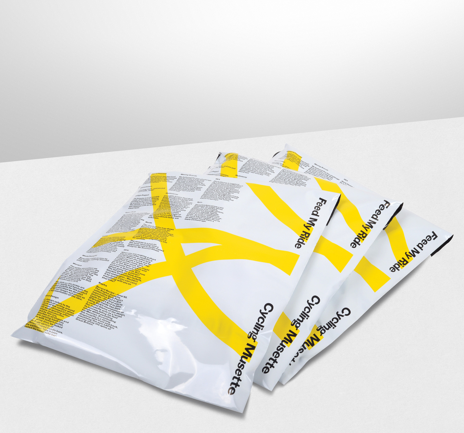 Progress Packaging FeedMyRide Envelopes Cycling Mussette Detail Yellow