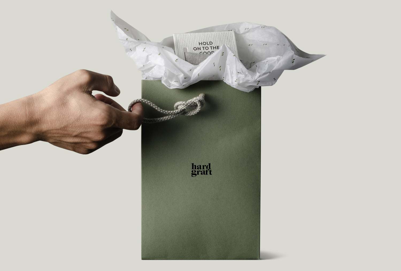 Progress Packaging HardGraft Luxury Fashion Retail Carrier Bags Handles Colorplan