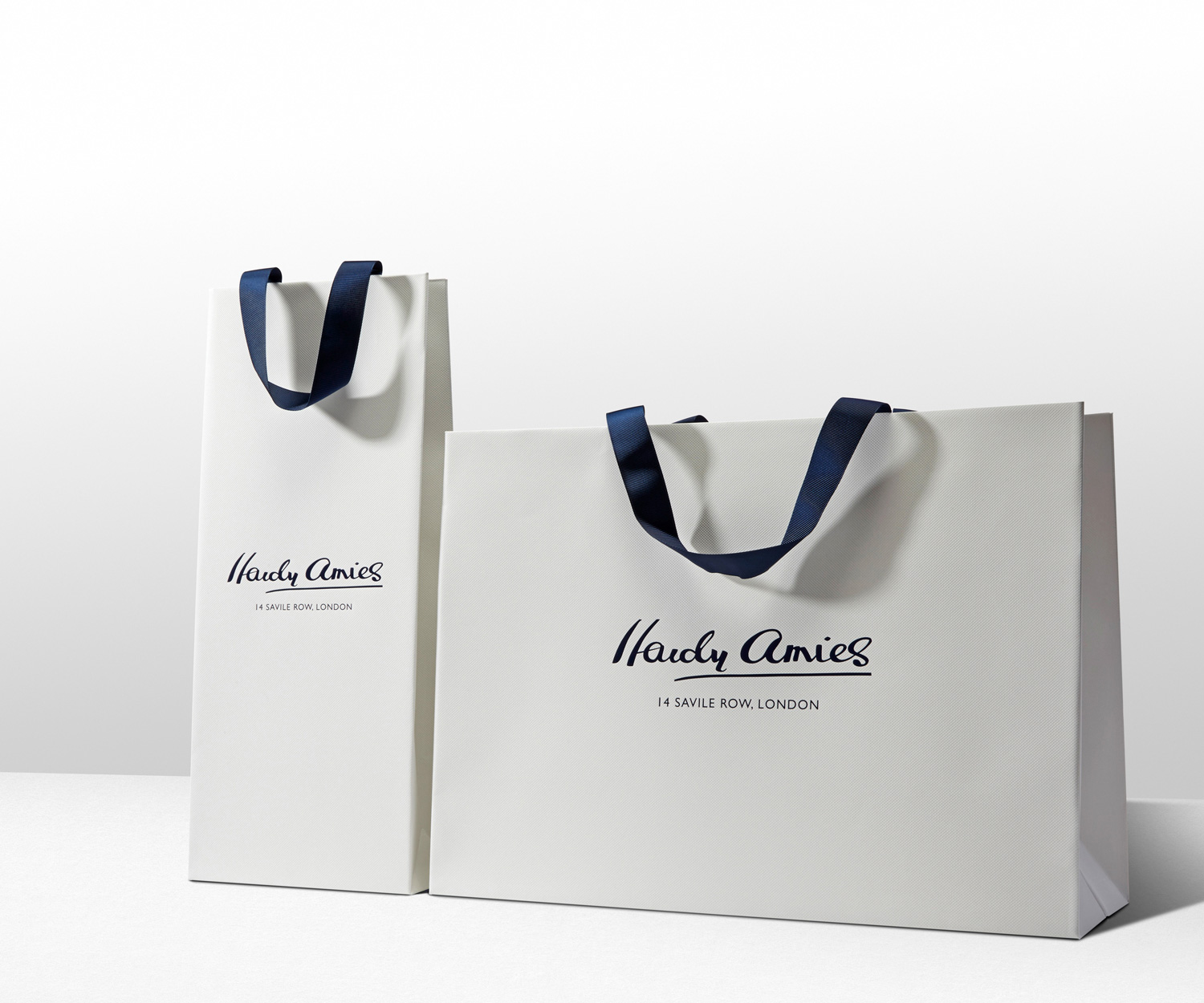 Progress Packaging Hardy Amies Luxury Fashion Carrier Bags British Menswear