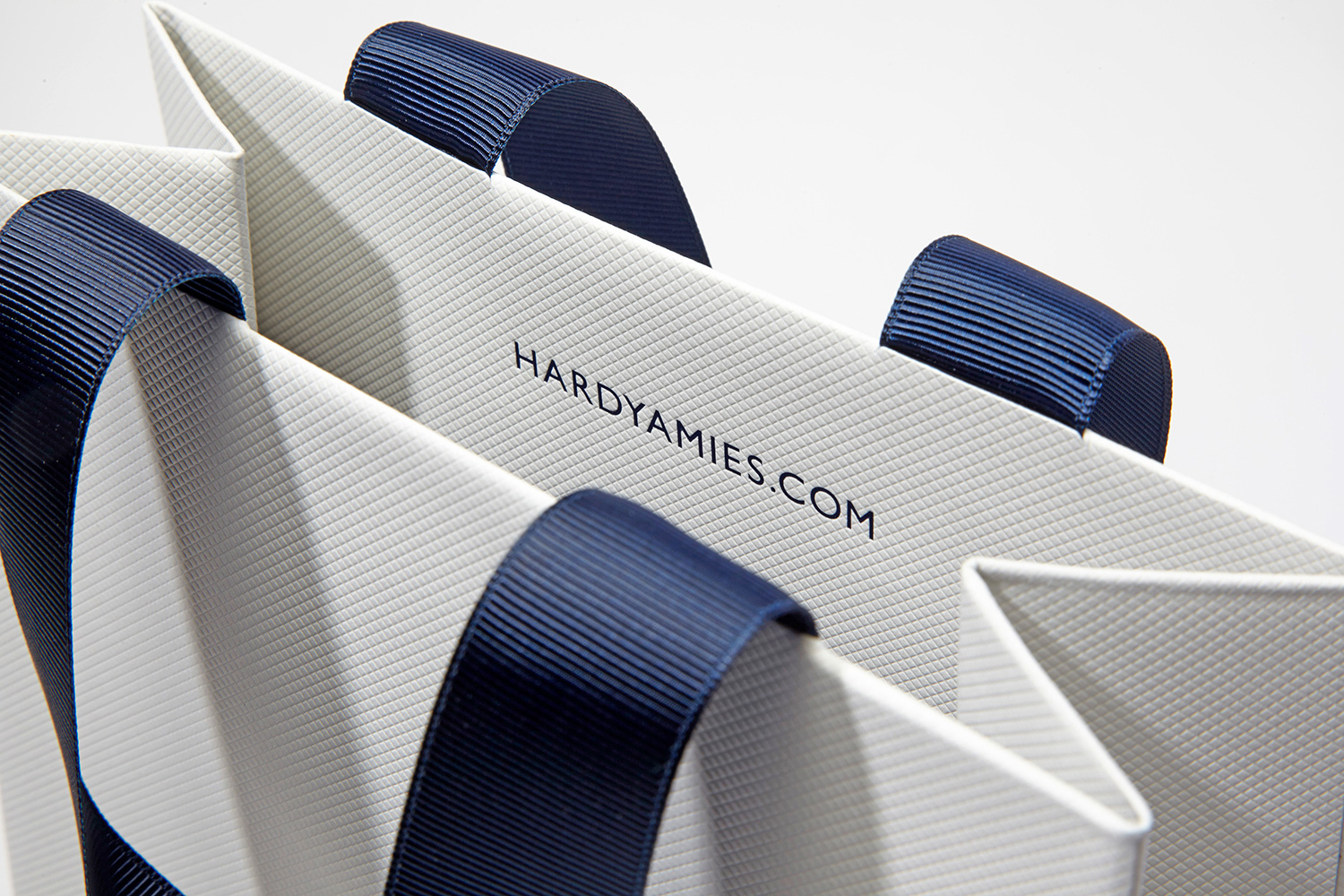 Progress Packaging HardyAmies Luxury Fashion Ribbon Grosgrain Thick Silk Handles
