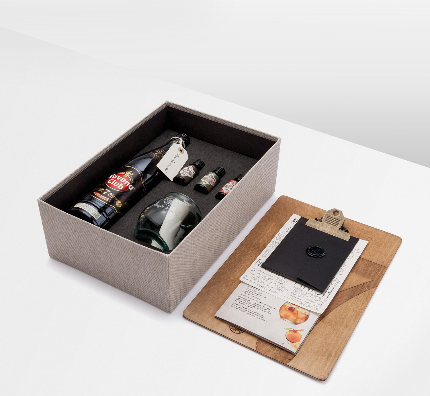 Progress Packaging Havana Club Boxes Drinks Special Edition Textiles Winters Fabric Foam