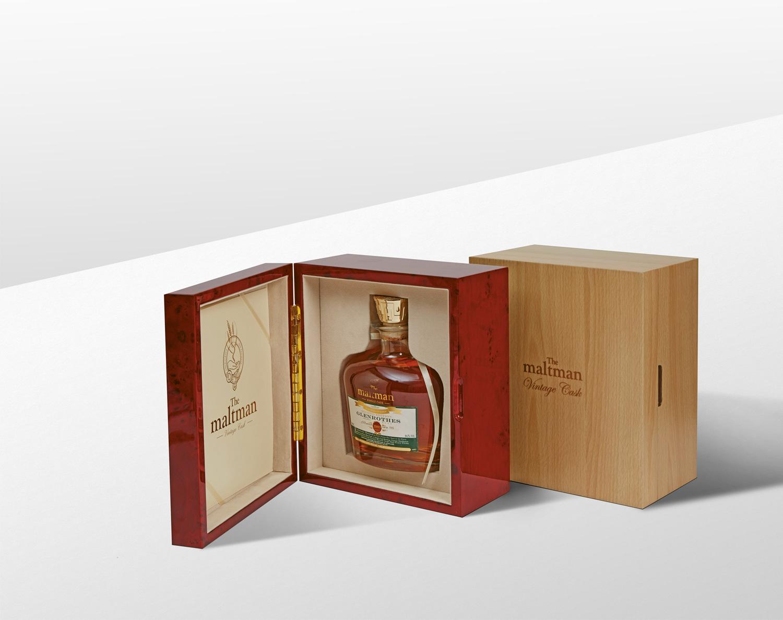Progress Packaging Maltman Drinks Boxes Wood Closure Oak Mahogony