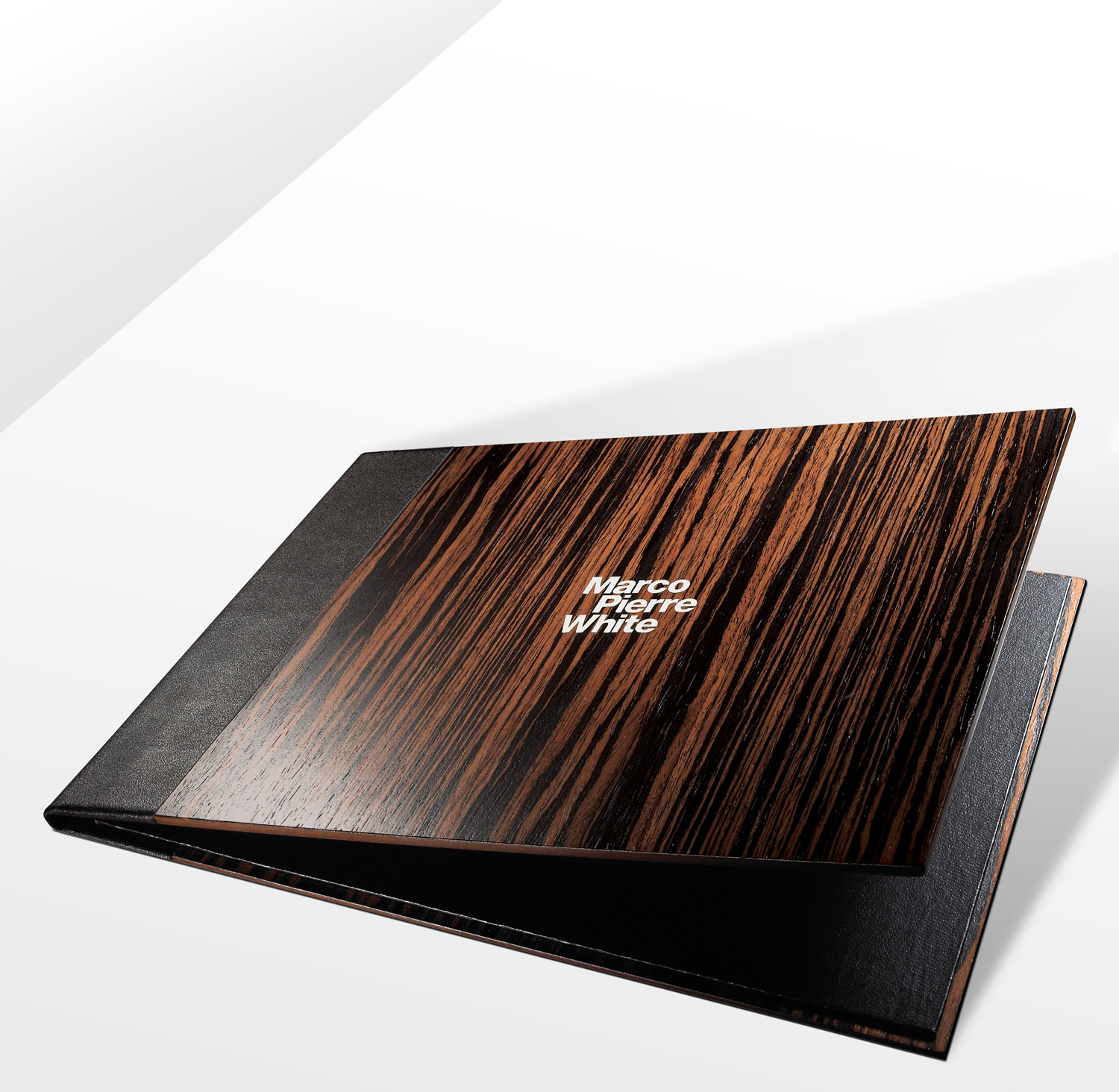 Progress Packaging MarcoPiereWhite Luxury Menu Drinks Closure Wood Leather