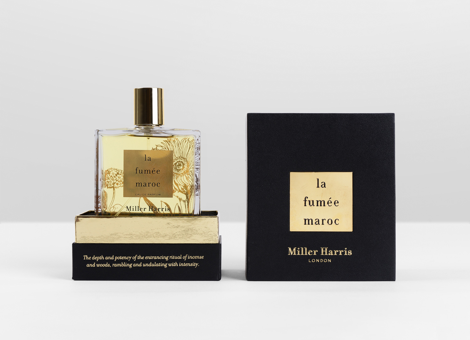 Progress Packaging Miller Haris Boxes Luxury Retail Textured Paper Embossed Fabric Paper gold