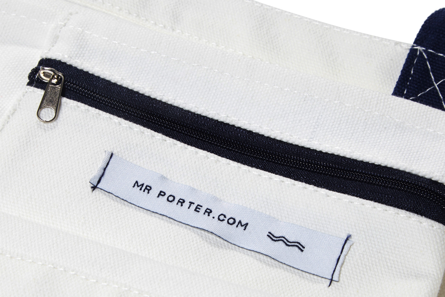 Progress Packaging MrPorter Tote Bag Closure Zip Pocket