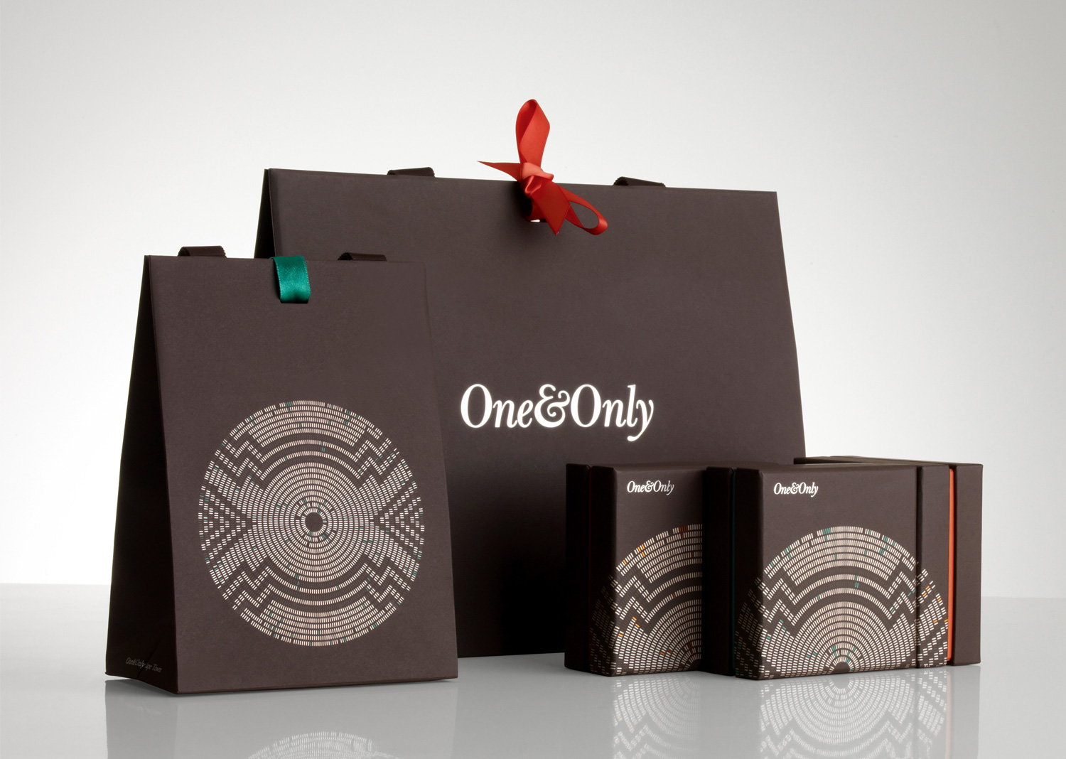 Progress Packaging OneOnly Carrier Bags Boxes Luxury Property Resorts Folding Ribbon