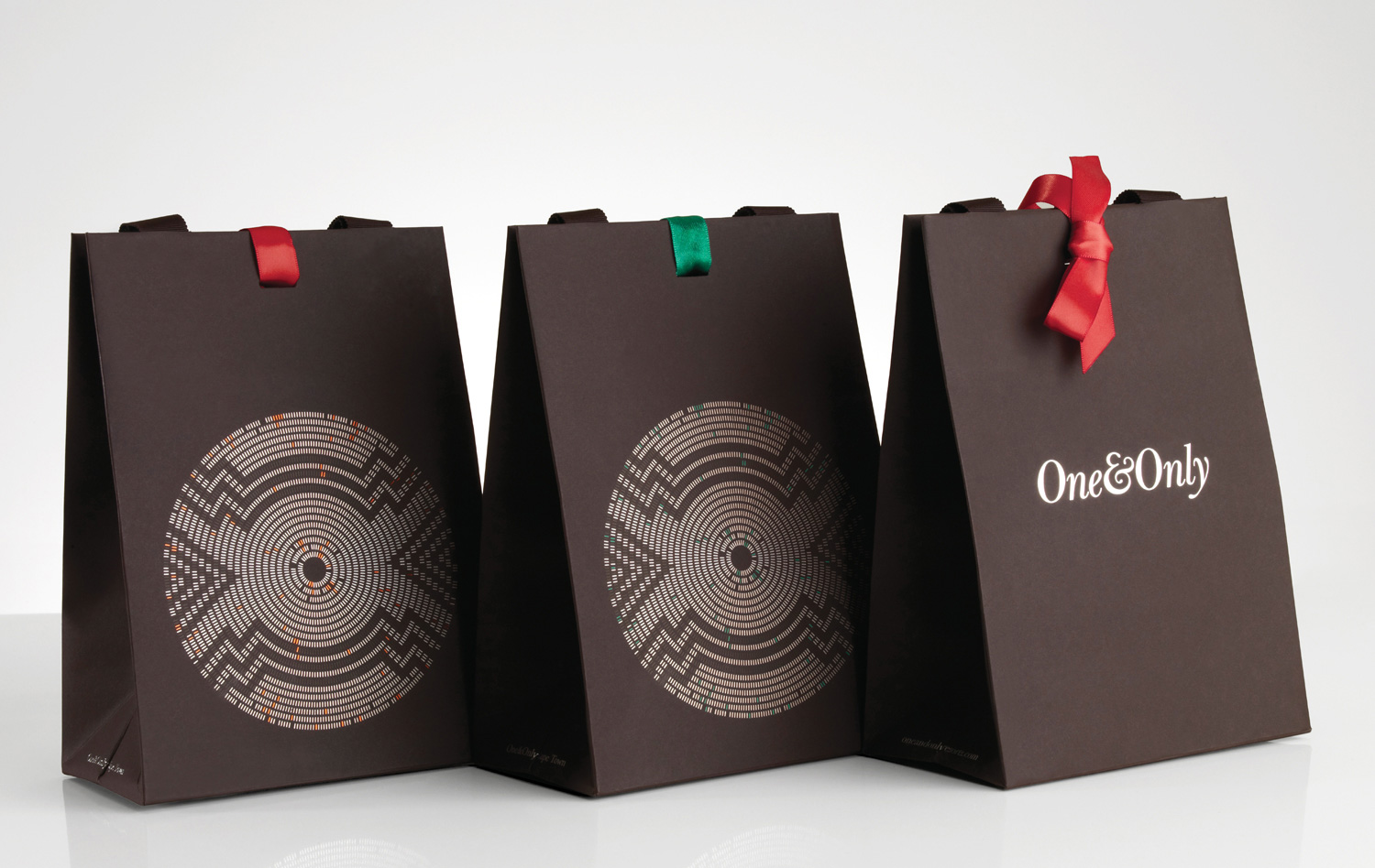 Progress Packaging OneOnly Carrier Bags Luxury Property Resorts Folding Ribbon Range