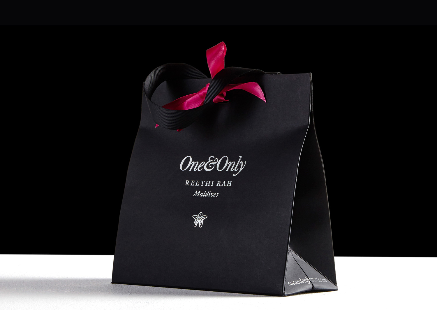 Progress Packaging OneOnly Carrier Bags Luxury Property Resorts Folding Ribbon