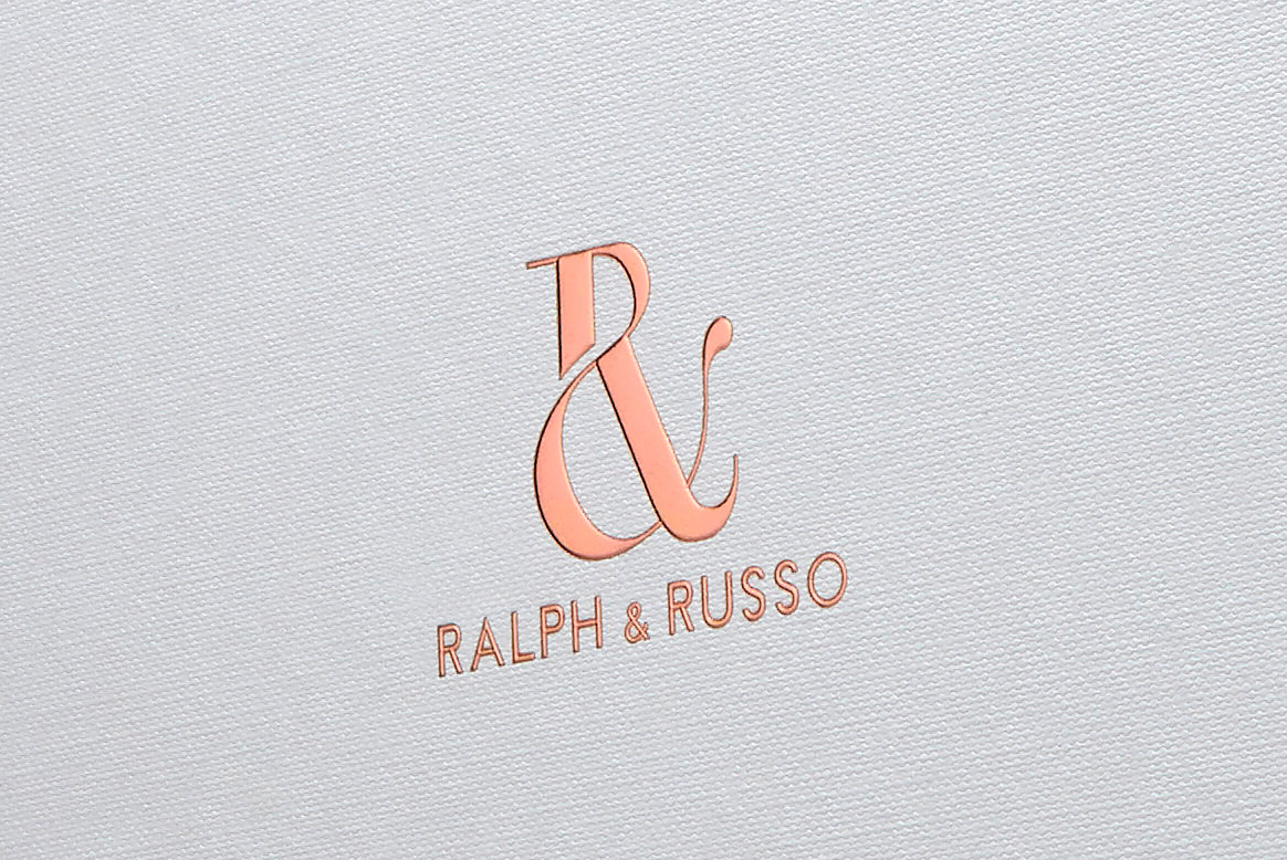 Progress Packaging RalphRusso Copper Foiling Fluted Foil Embossed Luxury Fashion