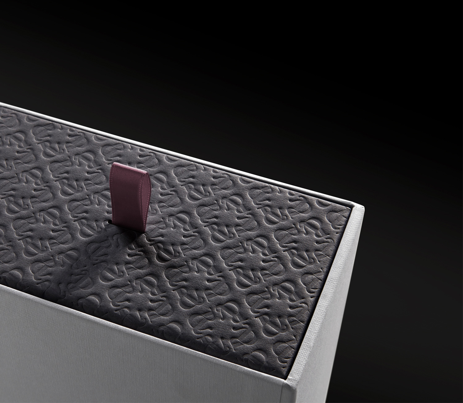 Progress Packaging RalphRusso Luxury Fashion Boxes Collection Bespoke Ribbon Pull