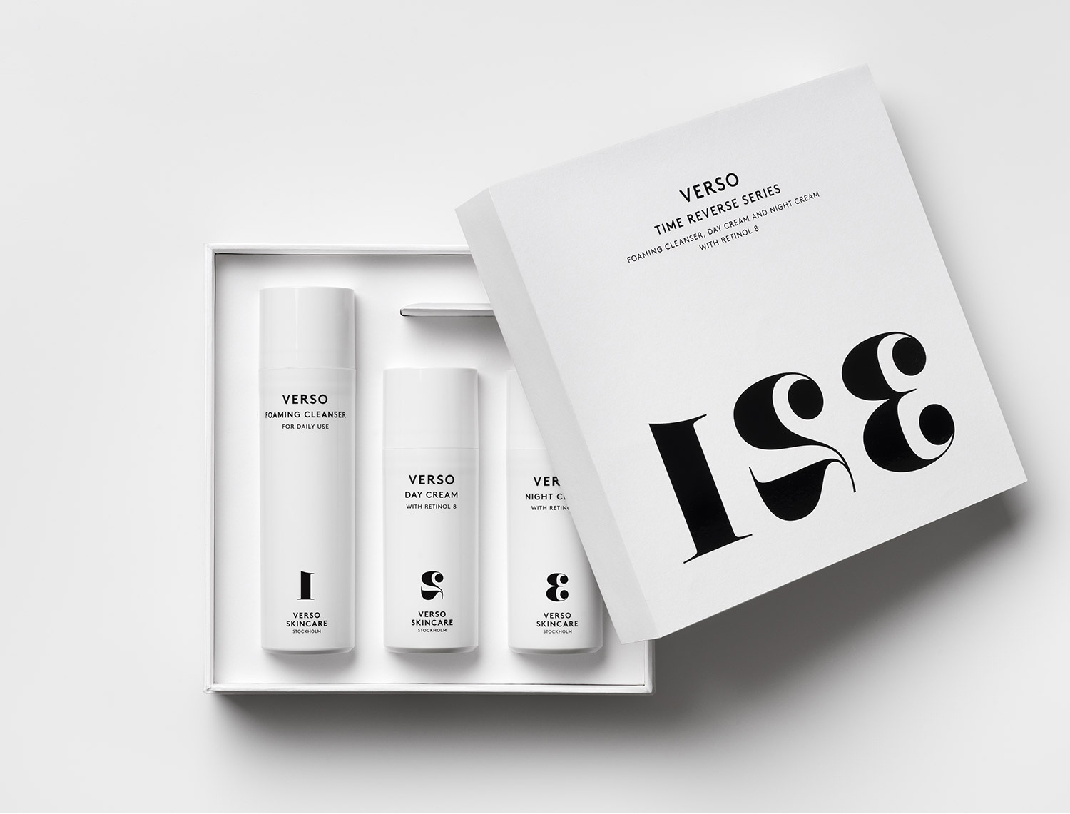 Progress Packaging VersoSkincare Cosmetics Retail Boxes Minimal Foiling