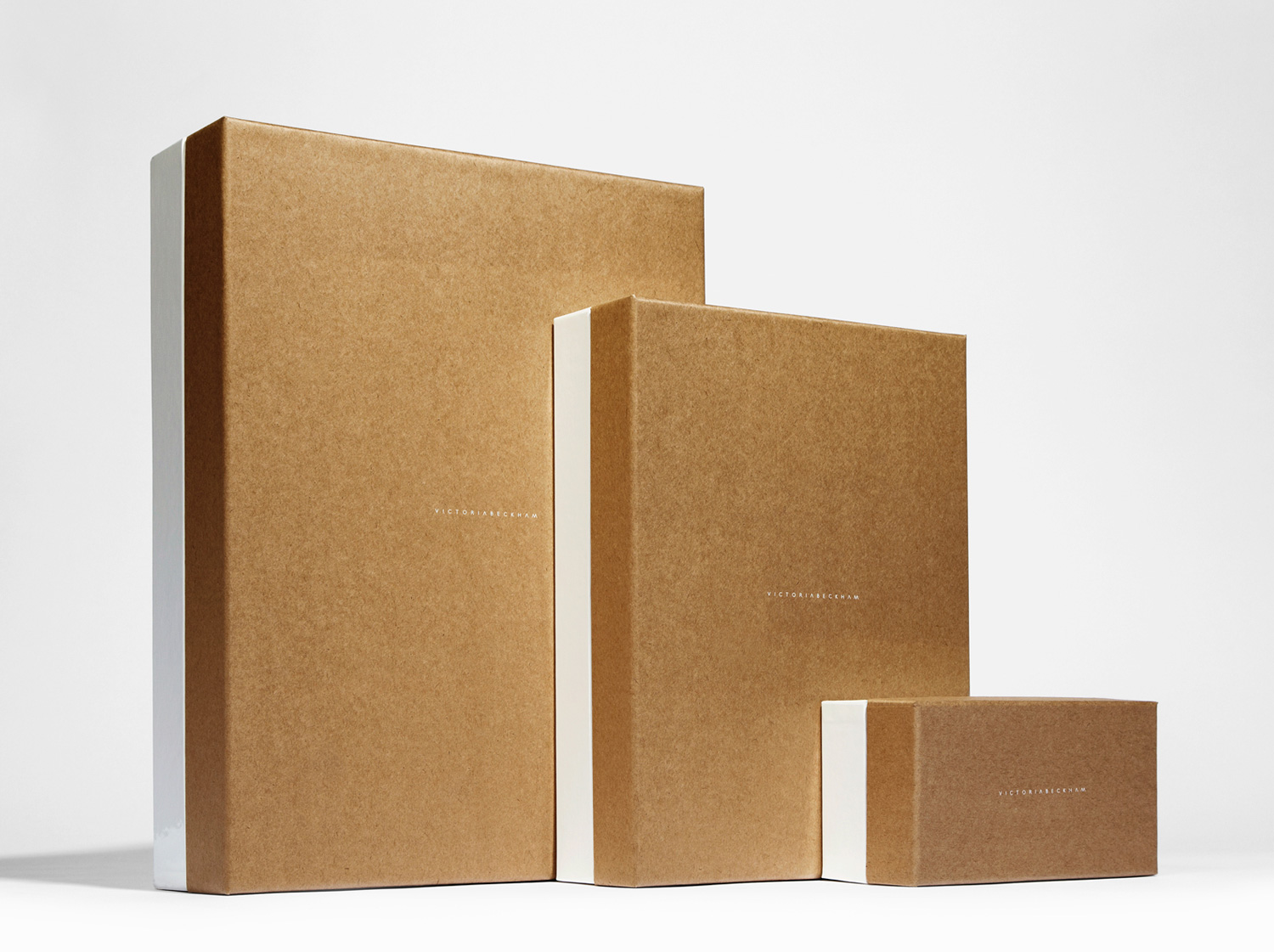 Progress Packaging Victoria Beckham Luxury Fashion Boxes Range Kraft Paper Contrast
