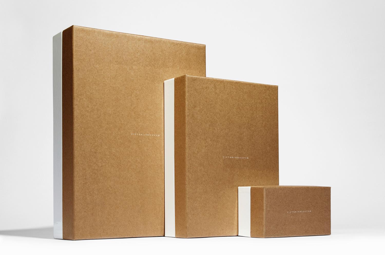 Progress Packaging Victoria Beckham Luxury Fashion Boxes Range Kraft Paper Gloss