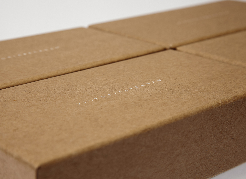 Progress Packaging Victoria Beckham Luxury Fashion Boxes Range Kraft Paper eco Friendly