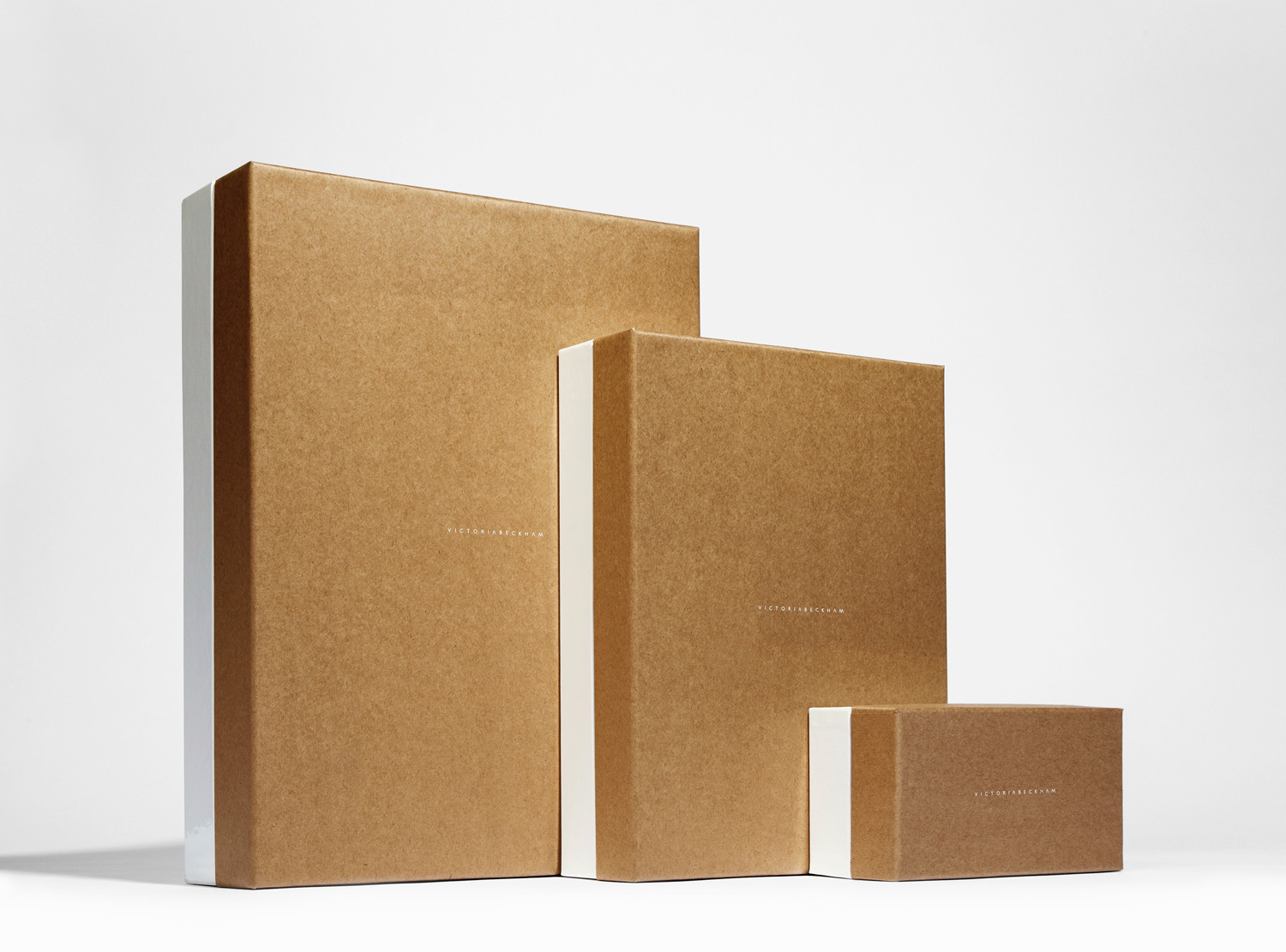 Progress Packaging Victoria Beckham Luxury Fashion Ecommerce Boxes Range Kraft Paper Contrast