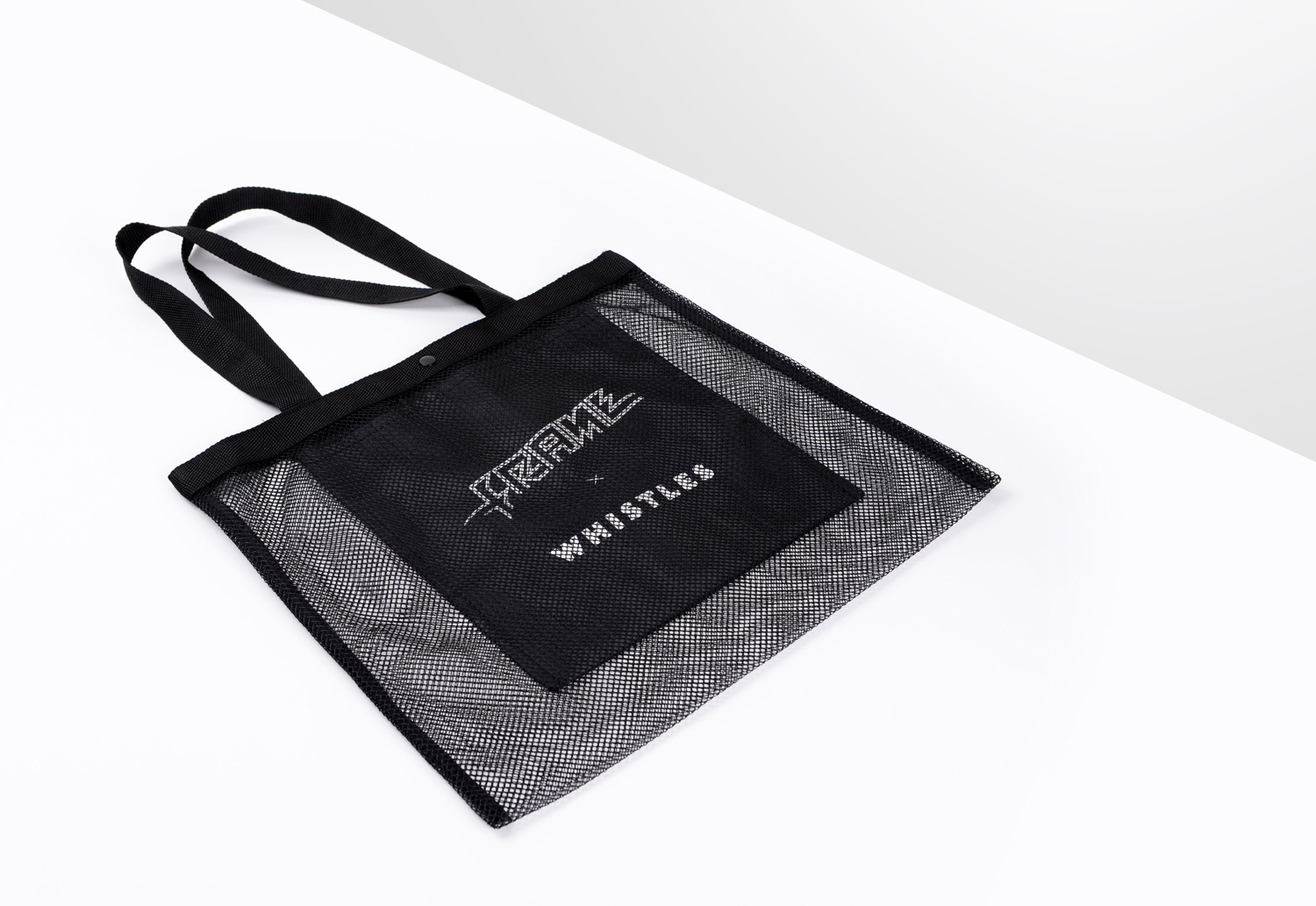 Progress Packaging Whistles Carrier Bag Retail Fashion Mesh Net Plastic Textiles