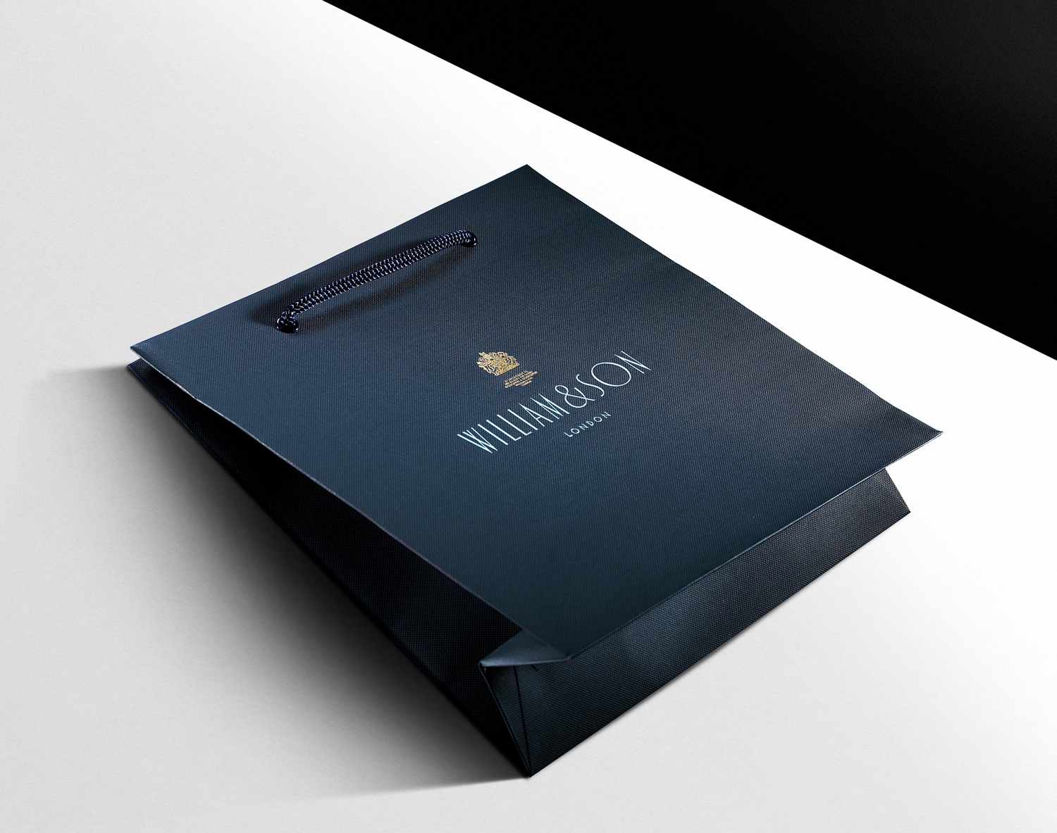 Progress Packaging WilliamSons Luxury Fashion Carrier Bag Papers Foiling Texture Menswear