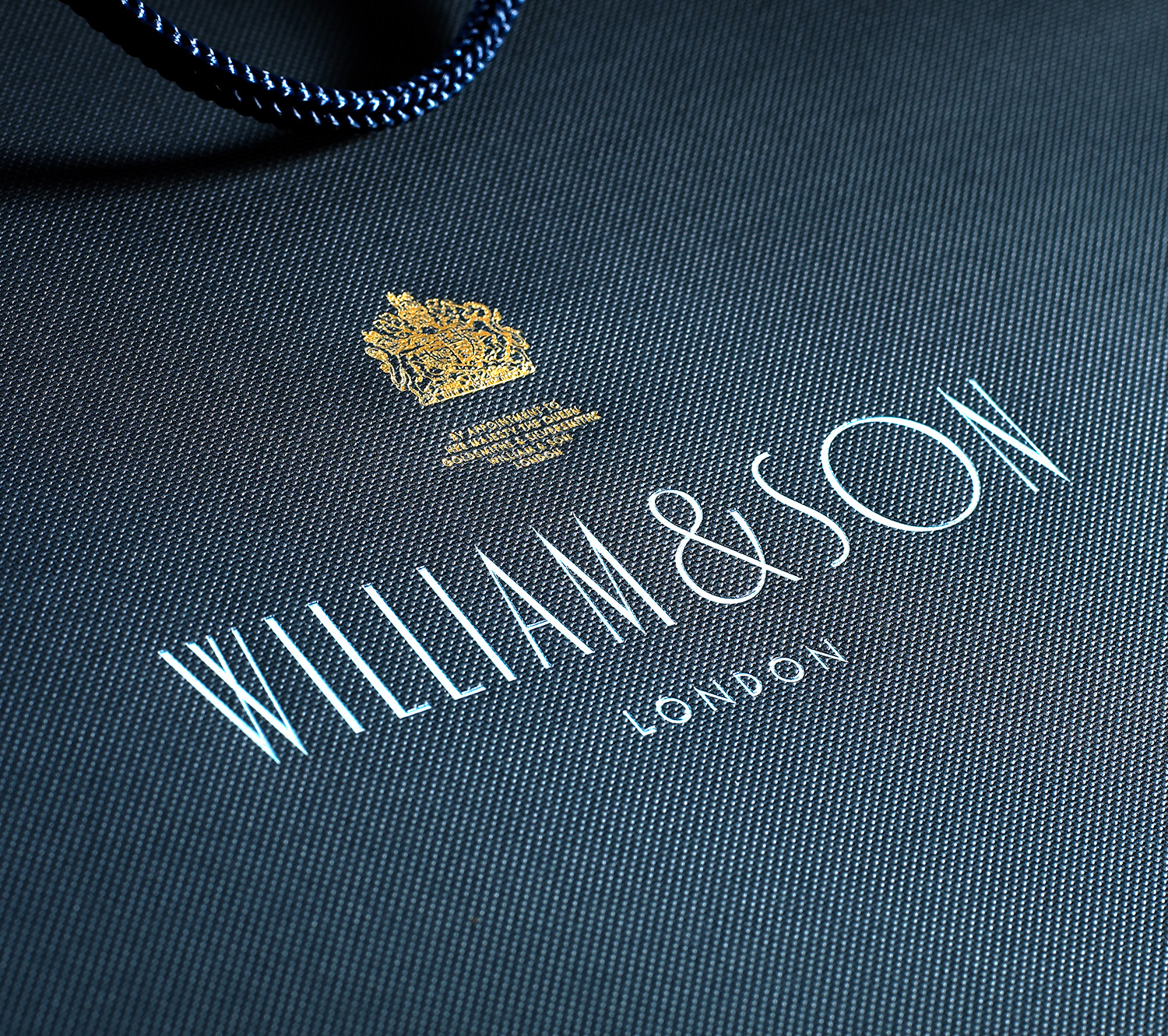 Progress Packaging WilliamSons Luxury Fashion CarrierBag Papers Foiling Texture Royal Warrant