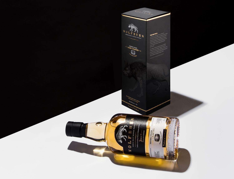 Progress Packaging Wolfburn Whisky Luxury Drinks Labels Carton Bottles