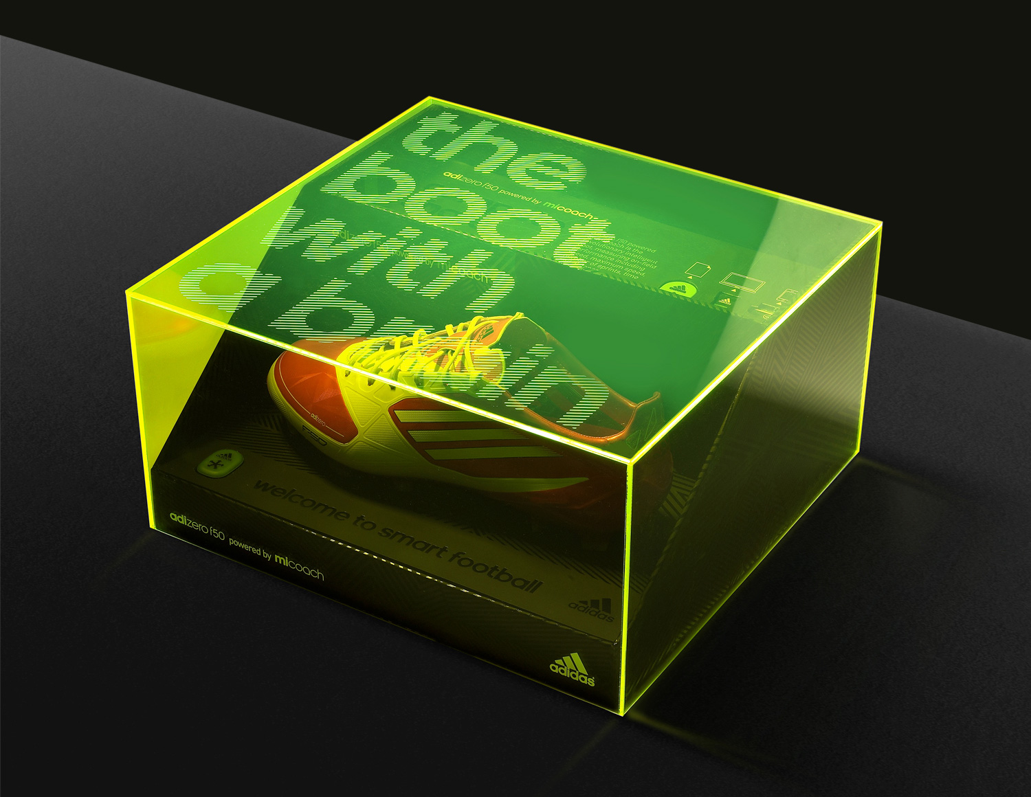 8cbcd338ecd Progress Packaging Adidas Retail Fashion Boxes Acrylic LaserEtched  Promotion FMCG