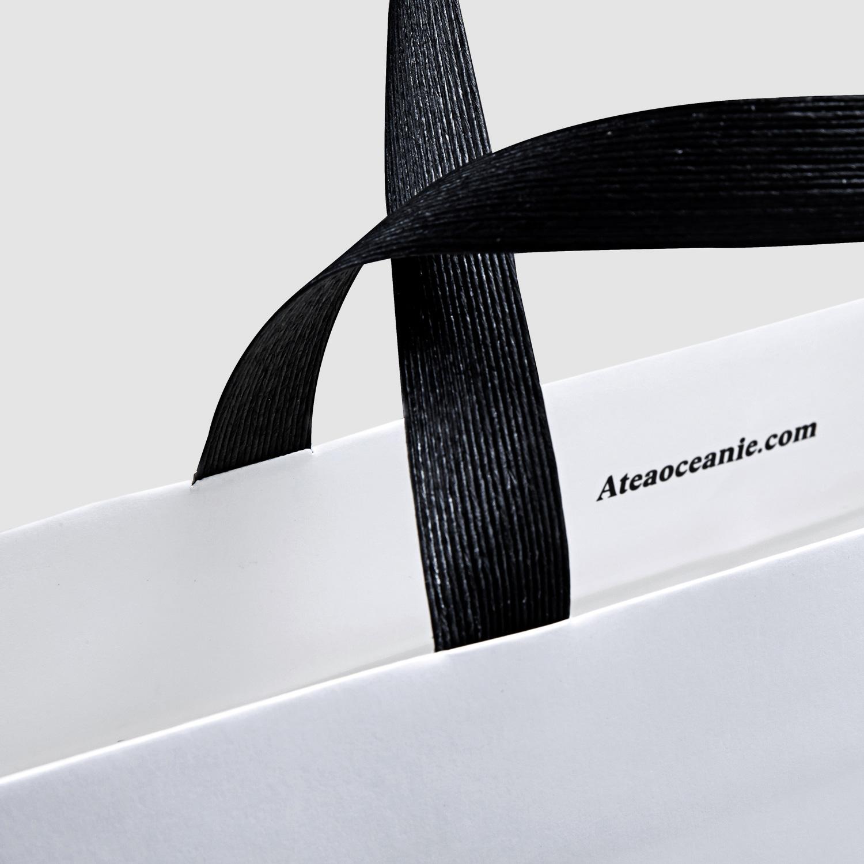 Progress Packaging Atea Carrier Bags Luxury Fashion Paper Ribbon Handles