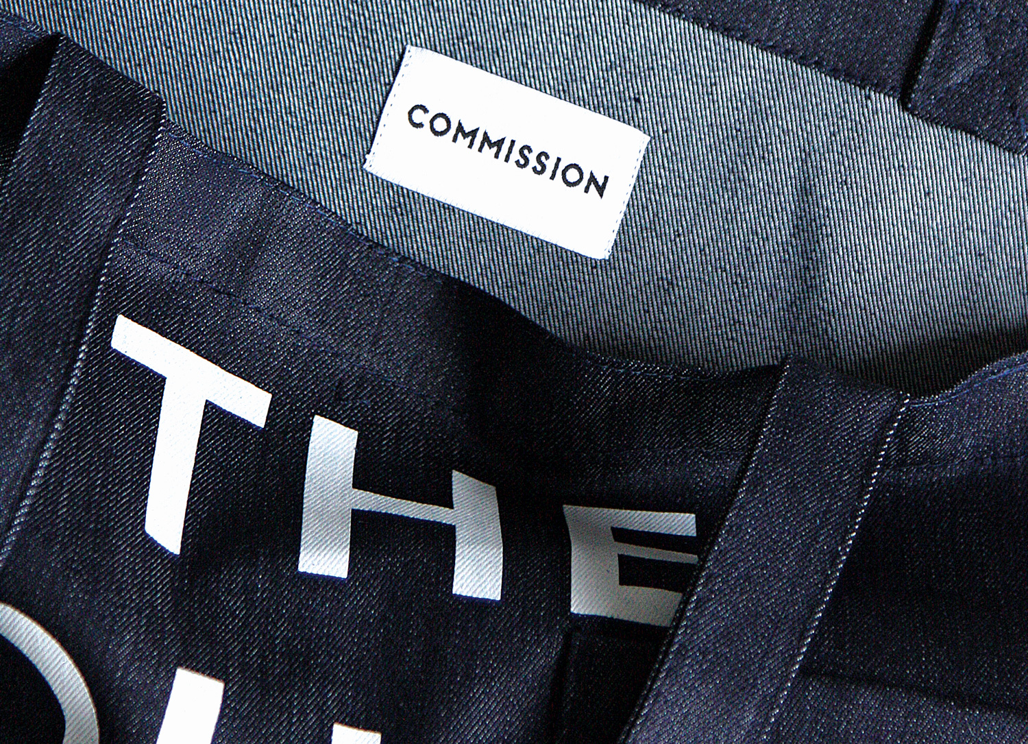 Progress Packaging Commission Denim Tote Bag Detail