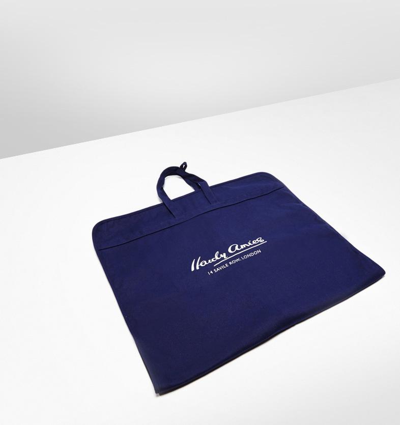 Progress Packaging Hardy Amies Luxury Menswear Suit Case Cotton Custom Dyed
