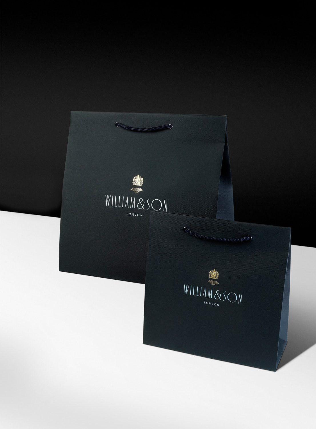 Progress Packaging William And Son Luxury Fashion Carrier Bag Papers Foiling Menswear Savile Row