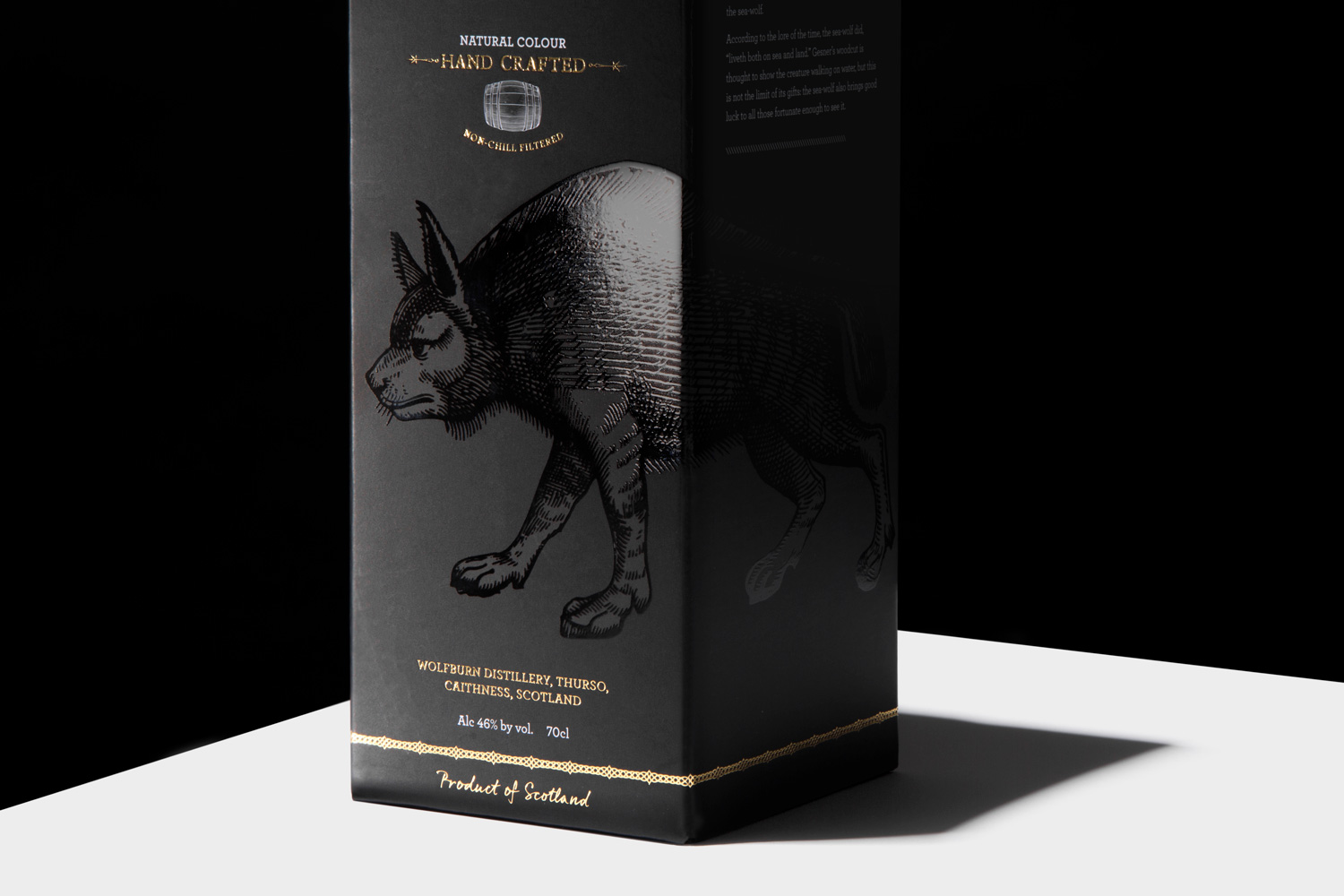 Wolfburn Whisky Progress Packaging Crash Bottom Box