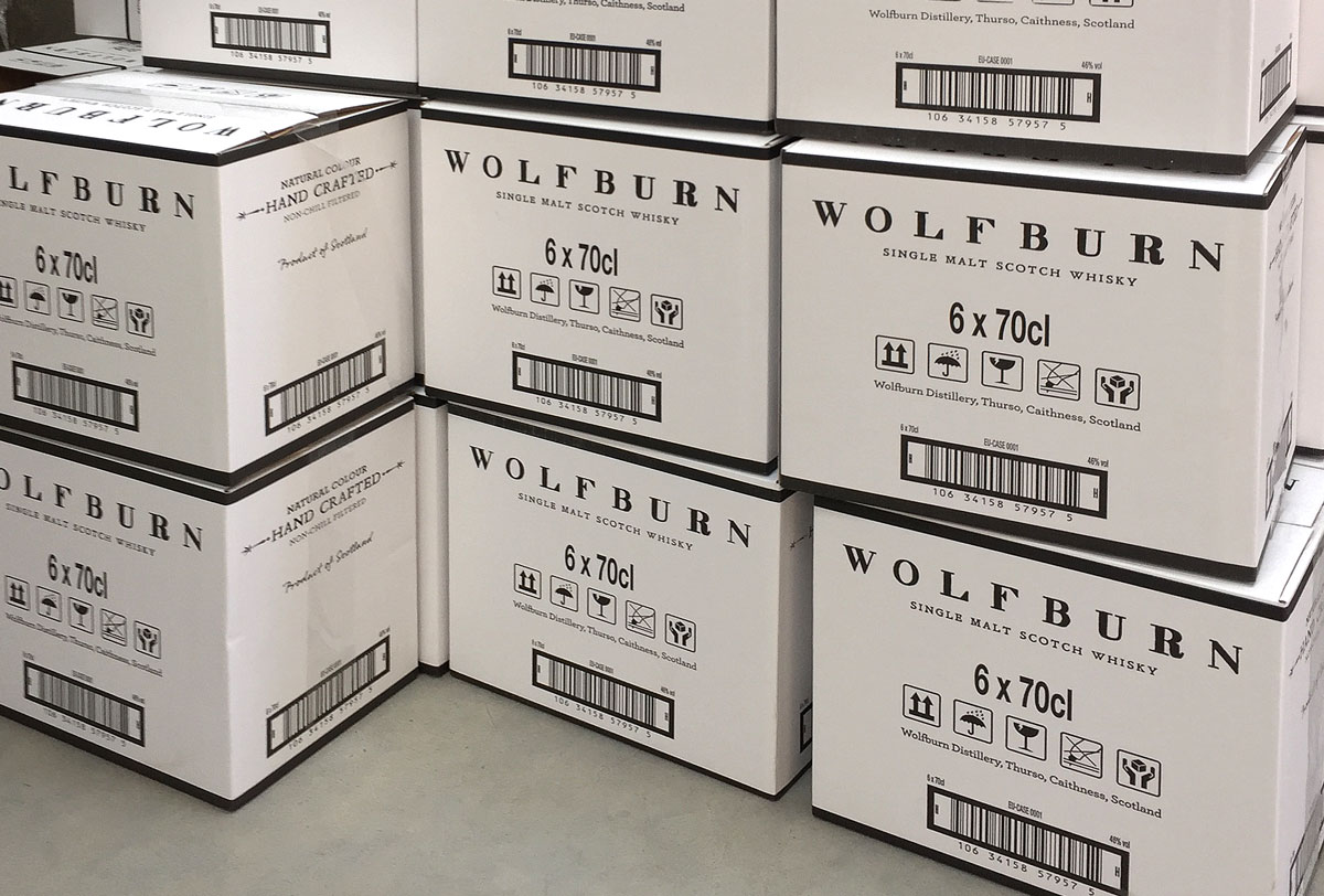 Wolfburn Whisky Progress Packaging Transit Boxes Corrugate