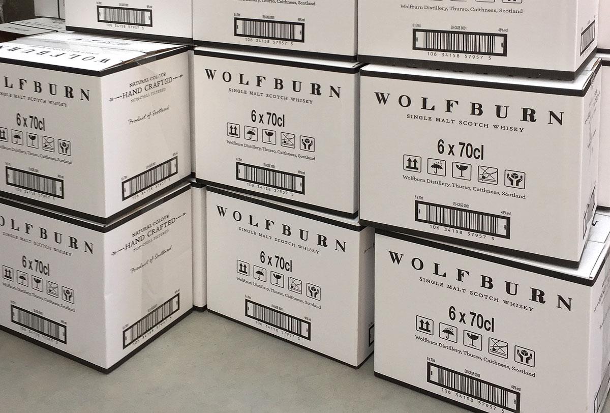 Wolfburn Whisky Progress Packaging Transit Boxes Corrugate