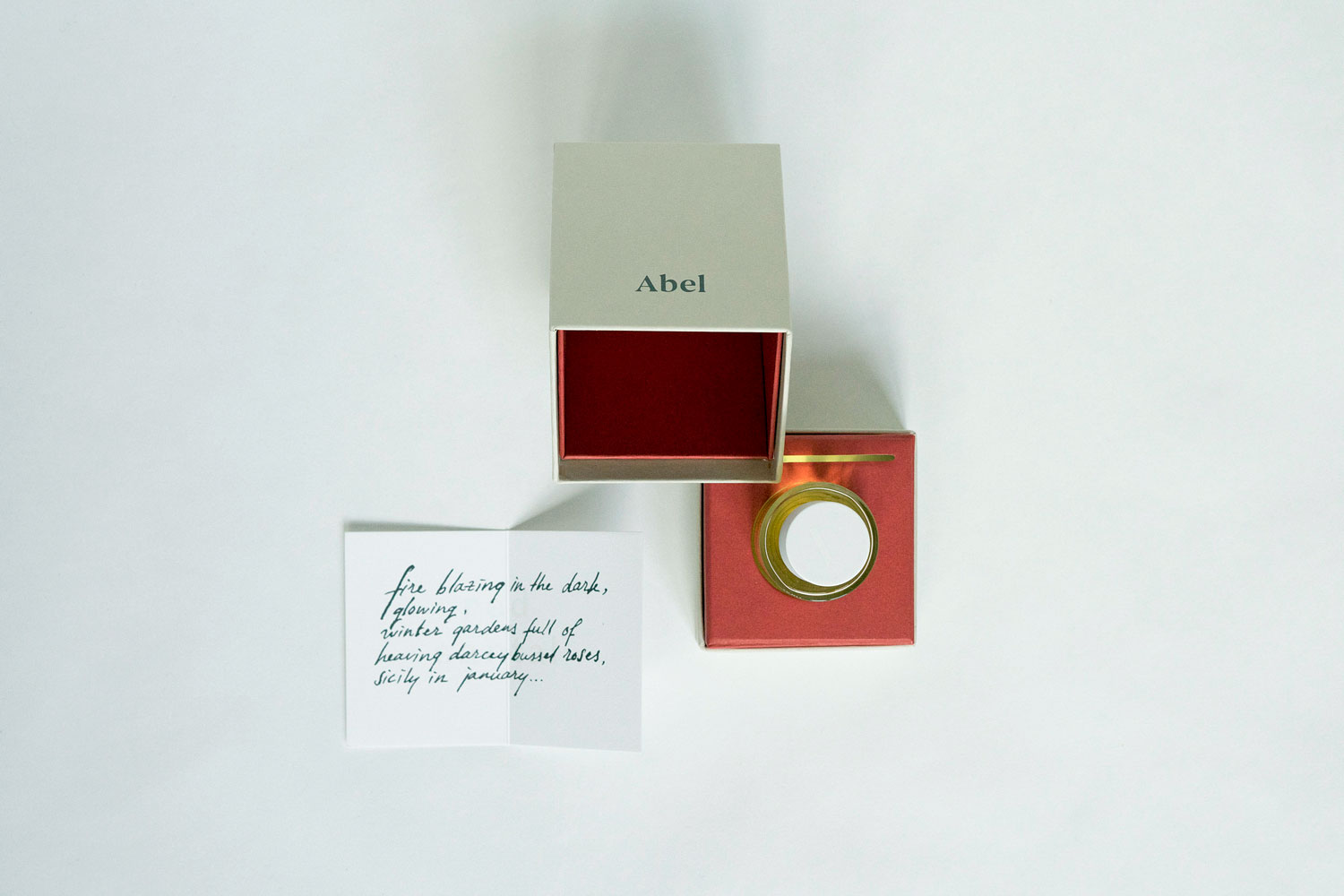 Progress Packaging Abel Perfume Box and Bottle
