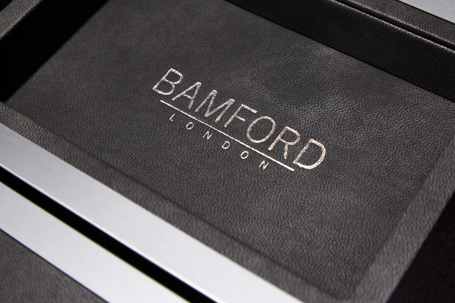 Progress Packaging Bamford Heritage Watch Luxury Wood Silver Foil