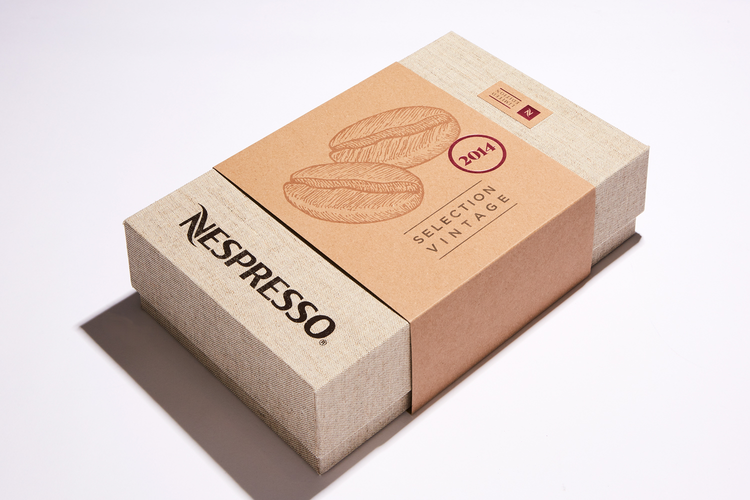 Progress Packaging Nespresso Presentation Cloth Covered Box