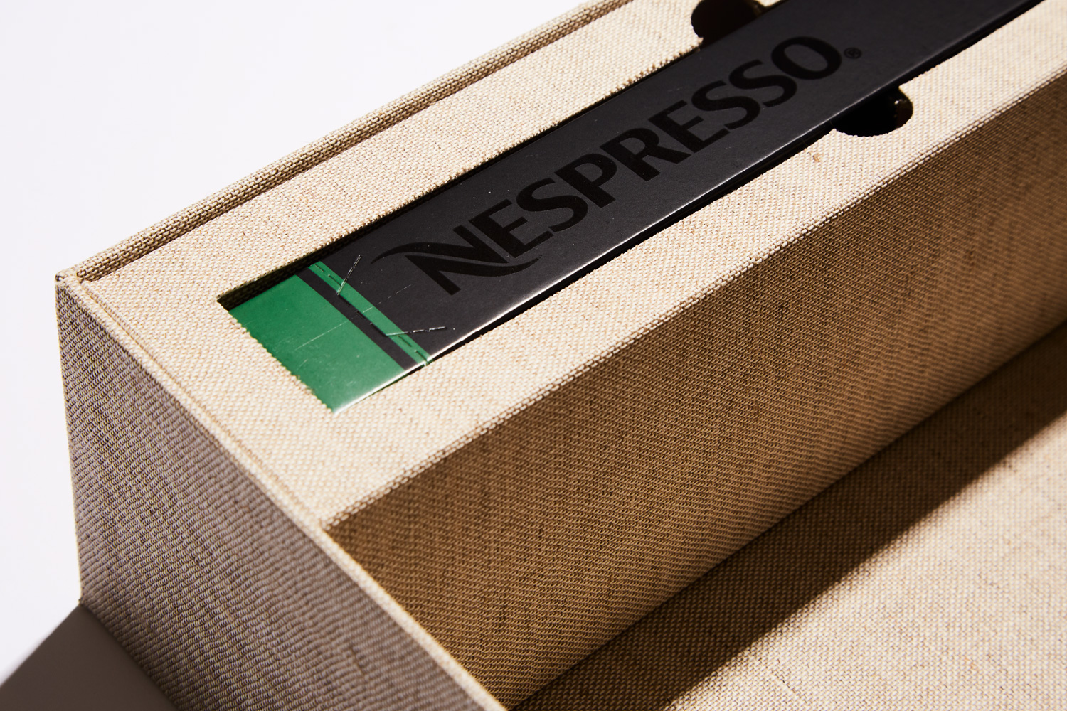 Progress Packaging Nespresso Presentation Cloth Covered Box Luxury