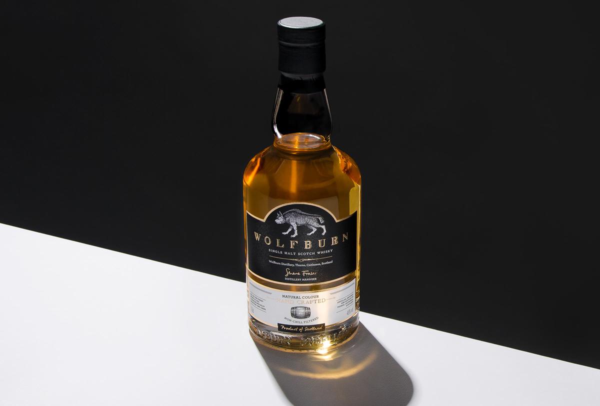 Wolfburn Whisky Progress Packaging Bottle Label CS