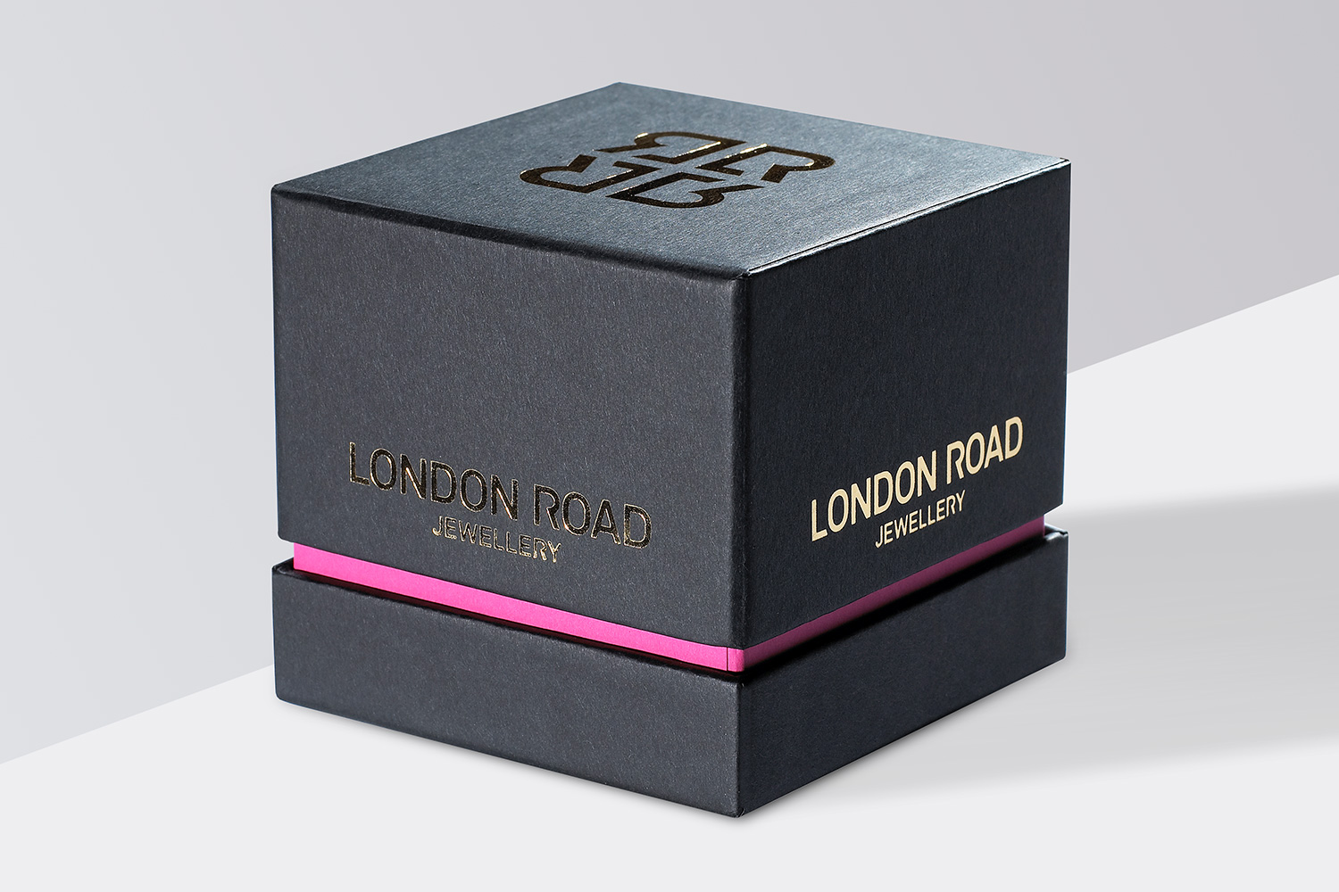 Progress Packaging London Road SEA Luxury Jewellery Box Gold Foil Block