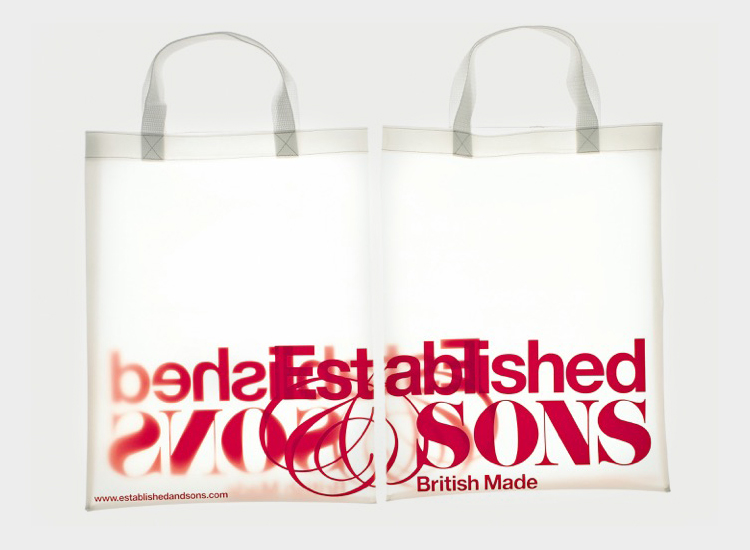 Progress Packaging Made Thought Established Sons Tote Non Woven Polyprop Creative Bespoke Screen Printed