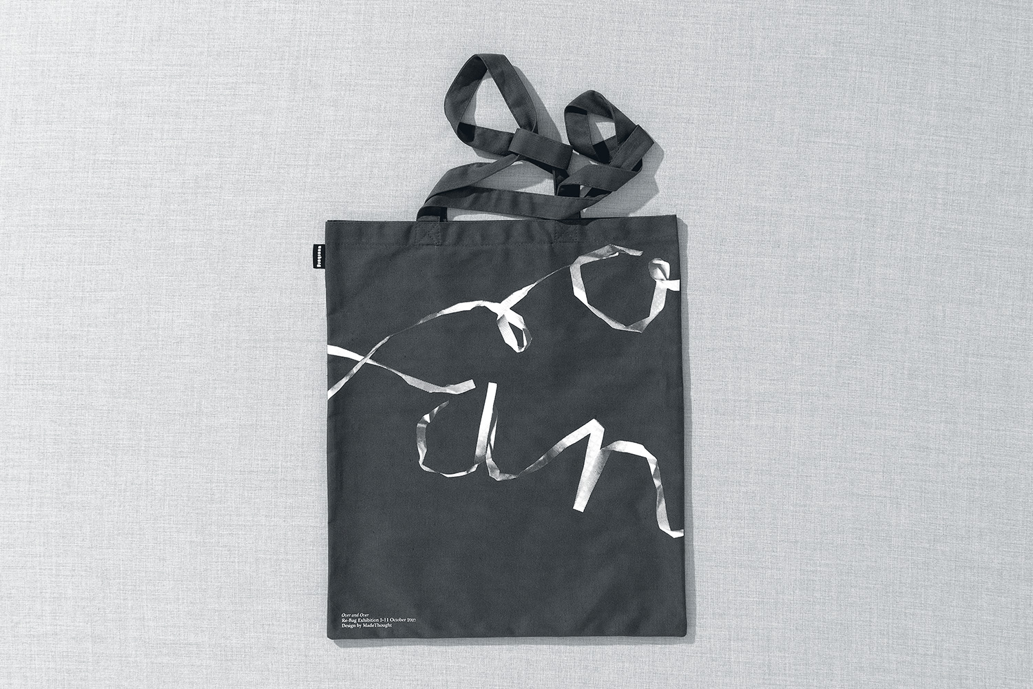 Progress Packaging Re Bag Tote Creative Luxury Bespoke Made Thought Screen Printed Canvas