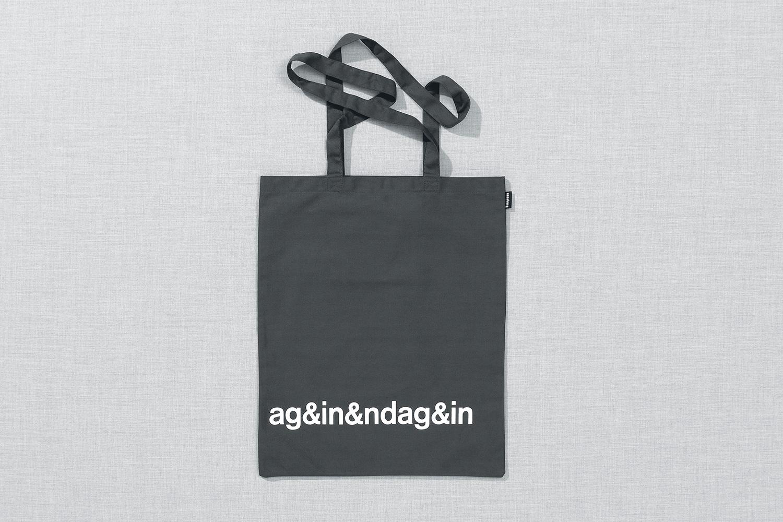 Progress Packaging Re Bag Tote Creative Luxury Bespoke ODD Screen Printed Canvas