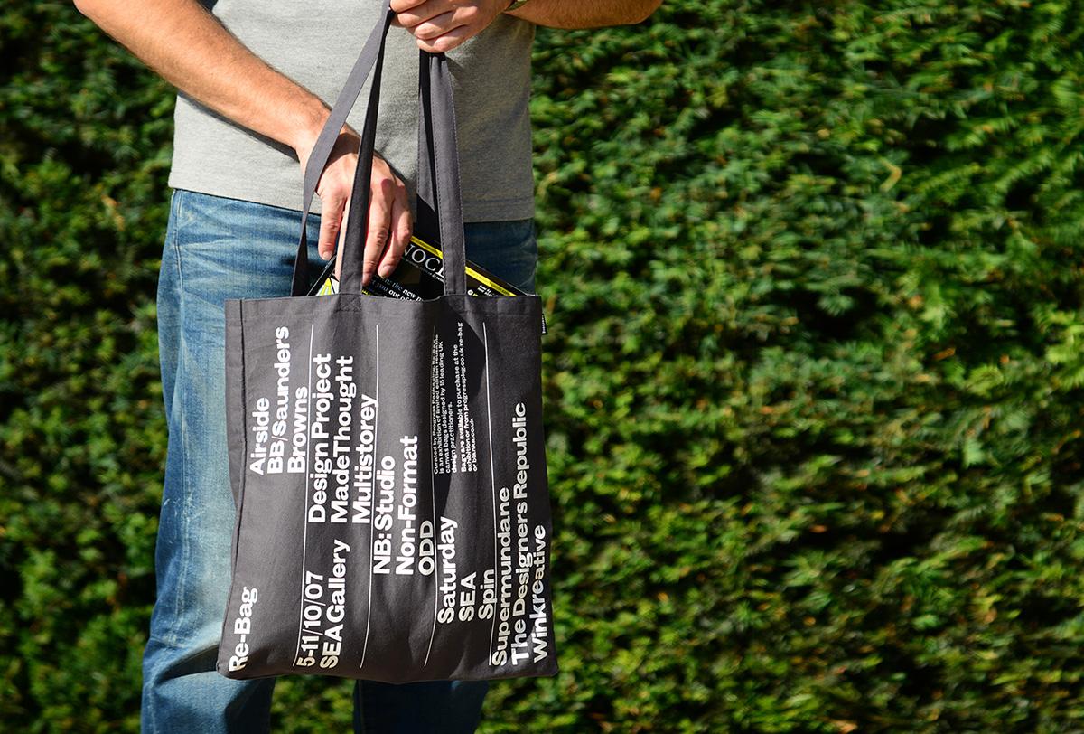 Progress Packaging Re Bag Tote Exhibition Creative Luxury Bespoke Screen Printed Promotional Bag