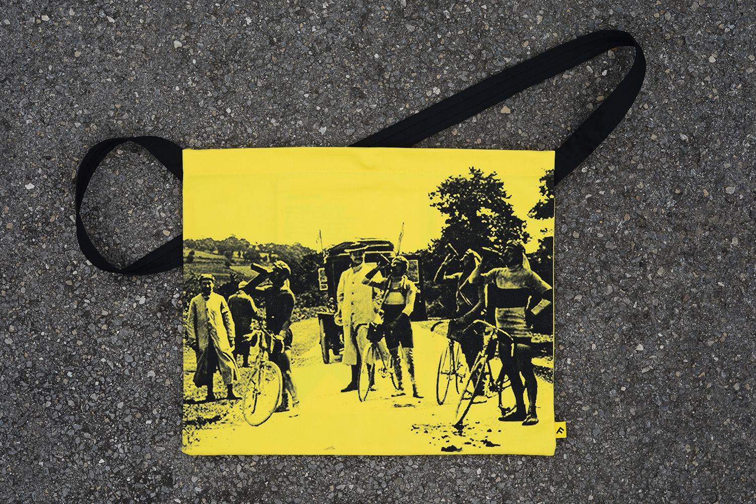 Progress Packaging Tour de France Tour de Yorkshire Musette Bag Milltag Canvas Screen Print Creative
