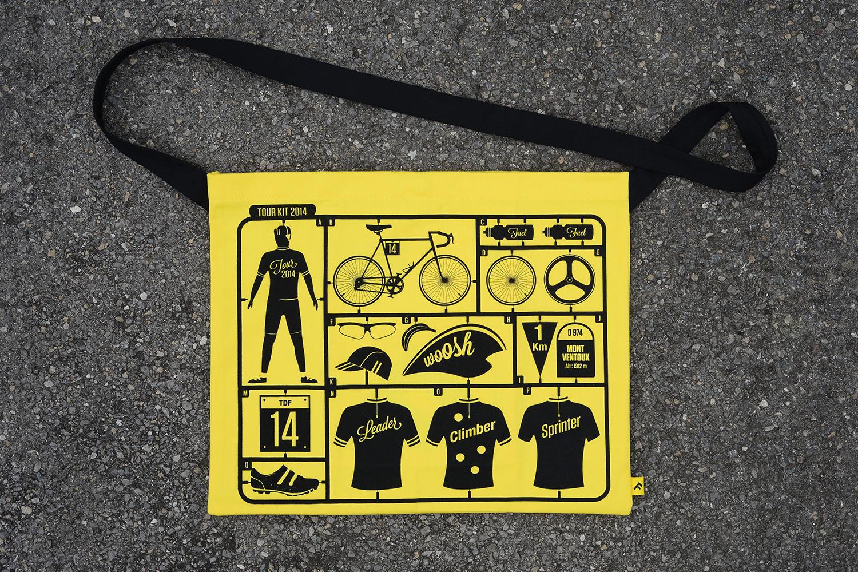 Progress Packaging Tour de France Tour de Yorkshire Musette Bag Neil Stevens Canvas Screen Print Creative